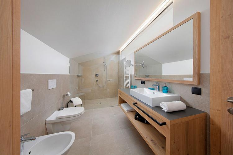 Bathroom with large shower
