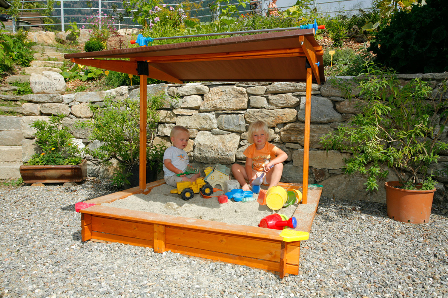Sandpit for kids